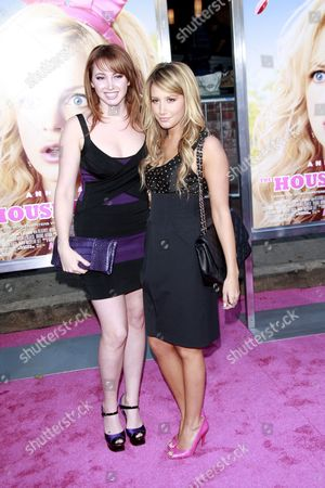 Us Actress and Cast Member Jennifer Tisdale (l) and Her Sister Us Actress Ashley Tisdale Arrive at the Premiere of Us Director Fred Wolf's 'The House Bunny' Held at the Mann Village Theater in Los Angeles California Usa 20 August 2008 the Movie Opens in Us Theatres On 22 August 2008