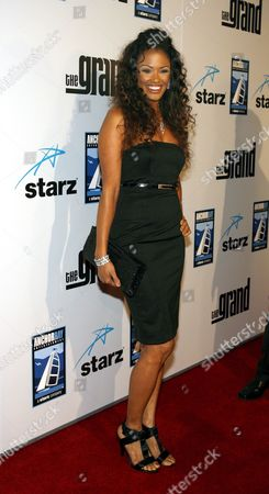 Stock Picture of Us Actress K D Aubert Arrives For the the Film Premiere of 'The Grand' in Los Angeles California Usa 05 March 2008 'The Grand' is a Mockumentary Set in the World of Professional Poker That Follows Six Players Who Reach the Finals of a High-stakes Tournament