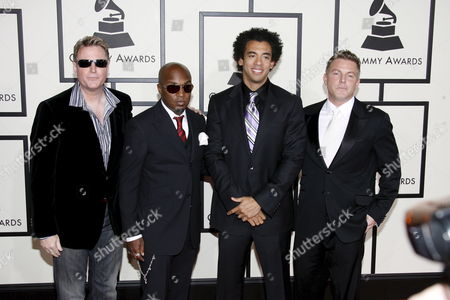 Stock Picture of U S Band Harvey Mason Jr and Damon Thomas the Underdogs Arrive On the Red Carpet During the 50th Annual Grammy Awards at the Staples Center in Los Angeles California Usa 10 February 2008