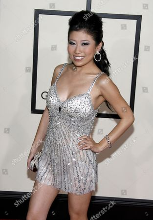 Asian-chinese American Pop Singer Adrienne Lau Arrives On the Red Carpet During the 50th Annual Grammy Awards at the Staples Center in Los Angeles California Usa 10 February 2008