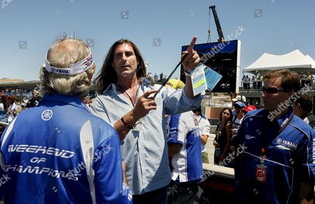 Italian Actor and Romance Novel Cover-boy Fabio Lanzoni (c) Roams Around the Starting Line at at the Red Bull Us Moto Gp at Laguna Seca in Monterey California Usa 22 July 2007 an Avid Motorcyclist Fabio is Said to Own Over 150 Motorcycles