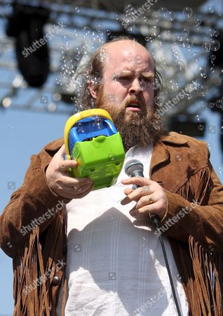 Tim Harrington of the Us Band Les Savy Fav Performs During Their Concert at the Coachella Music & Arts Festival in Indio California Usa 25 April 2008 the Festival Features Approximately 120 Artists Including Prince Jack Johnson Roger Waters M Ia and the Verve