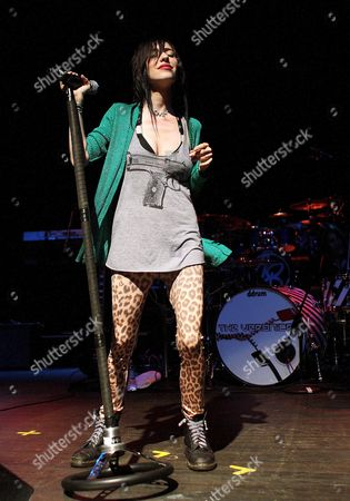 Jess Origliasso of the Australian Rock Group the Veronicas Performs in Concert at the Murat Egyptian Room in Indianapolis Indiana Usa 03 June 2008 the Veronicas Are an Aria Award-winning Australian Group Led by Identical Twin Sisters Lisa Marie Origliasso and Jessica Louise Origliasso