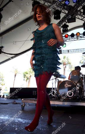 Rock Artist Ida Maria From Norway Performs at Coachella Valley Music and Arts Festival Indio California Usa 18 April 2009