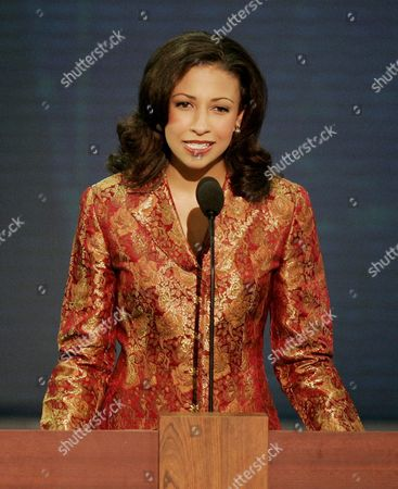 Miss America 2003 Erika Harold Delivers Her Address On the Second Day of the Republican National Convention at Madison Square Garden in New York City Tuesday 31 August 2004