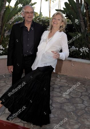 Stock Picture of Us Actor Christopher Lloyd (l) and Brenda Siemer-scheider (r) Arrive For the 'Smiles From the Stars: a Tribute to the Life and Work of Roy Scheider' in Los Angeles California Usa 04 April 2009 the Event Honored the Late Actor and Two-time Academy Award Nominated Scheider As Well As Raised Funds For the Myeloma Institute University of Arkansas For Medical Sciences Myeloma Claimed the Life of Scheider