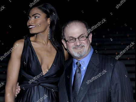 Author Salman Rushdie (r) and Girlfriend Pia Glenn Attend the Vanity Fair Party to Kick-off the 2009 Tribeca Film Festival in New York Usa 21 April 2009