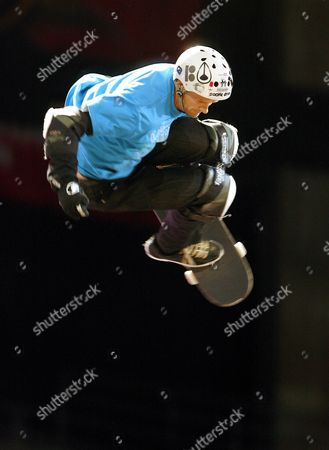 Danny Way Competes in the Skateboard Big Air Final Moto X Best Trick Final at the X Games Fourteen' in Los Angeles California Usa 31 July 2008 Way Finished in Second Place in the Event