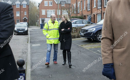 Editorial picture of Nicola Blackwood oversees new flooding pump, Oxford, UK - 13 Jan 2017