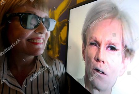 Bibbe Hansen Who Starred in Warhol's Films 'Prison' and 'Restaurant' Looks Over Part of the New Andy Warhol Exhibit - Andy Warhol: Other Voices Other Rooms at the Hayward Gallery in London Britain 06 October 2008 the New Warhol Exhibit Features Prints Tv Programmes and Films Warhol Was Fascinated with Film and Television and the Exhibition Explores the Relationship Between the Moving Image and the Still Image in His Work