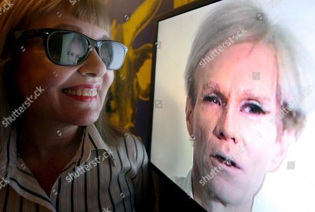 Stock Photo of Bibbe Hansen Who Starred in Warhol's Films 'Prison' and 'Restaurant' Looks Over Part of the New Andy Warhol Exhibit - Andy Warhol: Other Voices Other Rooms at the Hayward Gallery in London Britain 06 October 2008 the New Warhol Exhibit Features Prints Tv Programmes and Films Warhol Was Fascinated with Film and Television and the Exhibition Explores the Relationship Between the Moving Image and the Still Image in His Work