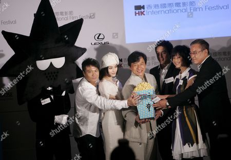 The Directors and Cast of Latest Film 'Shinjuku Incident' Appear at a Promotional Event Ahead of the 33rd Hong Kong International Film Festival Hong Kong China 26 February 2009 the Cast and Director of 'Shinjuku Incident' From Left to Right; Kar Lok Chin (hong Kong Action Director) Bingbing Fan (mainland Chinese Actress) Jackie Chan (hong Kong Actor) Daniel Wu (hong Kong Actor) Xu Jing Lei (mainland Chinese Actress) Tung-shing Yee (hong Kong Director) the Film Festival Will Be Held Over 23 Days From 22 March to 13 April and Will Showcase Some 300 Films From Over 50 Countries Including 20 World Premieres 17 International Premieres and 30 Asian Premieres