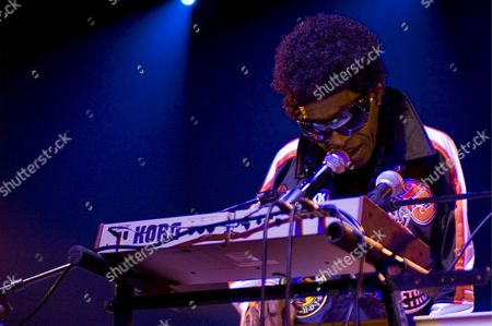 American Musician Sly Stone Performs On Stage with His Funk Band Sly and the Family Stone at the Olympia Theatre in Paris France 23 July 2007