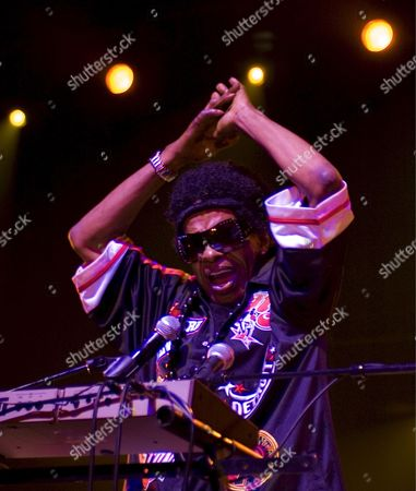 Stock Picture of American Musician Sly Stone Performs On Stage with His Funk Band Sly and the Family Stone at the Olympia Theatre in Paris France 23 July 2007
