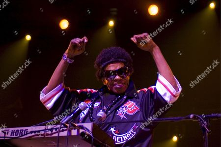 Stock Image of American Musician Sly Stone Performs On Stage with His Funk Band Sly and the Family Stone at the Olympia Theatre in Paris France 23 July 2007
