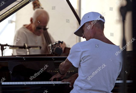 Us Jazz Pianist Keith Jarrett (r) Performs with Gary Peacock (bass) and Jack Dejohnette (drum Unseen) During a Rehearsal of the 48th 'Jazz a Juan' Festival in Antibes Juan Les Pins France 18 July 2008 the Festival Takes Place From 10 to 20 July 2008
