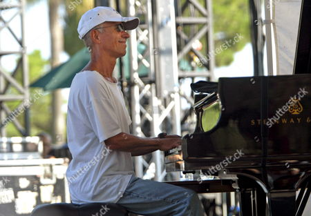 Us Jazz Pianist Keith Jarrett Performs with Gary Peacock (bass Unseen) and Jack Dejohnette (drum Unseen) During a Rehearsal of the 48th 'Jazz a Juan' Festival in Antibes Juan Les Pins France 18 July 2008 the Festival Takes Place From 10 to 20 July 2008