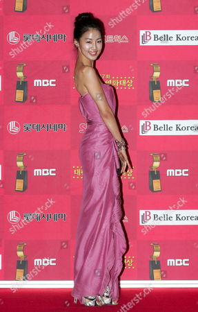 Stock Image of South Korean Actress Han Ji-hye Who Appeared On the Screen in 'My Boyfriend is Type-b' Arrives For the 7th Korean Film Awards at the Sejong Culture Center in Seoul South Korea 04 December 2008