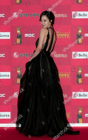 South Korean Actress Han Ye-seul Who Appeared On the Screen 'Miss Gold Digger' Arrives For the 7th Korean Film Awards at the Sejong Culture Center in Seoul South Korea 04 December 2008
