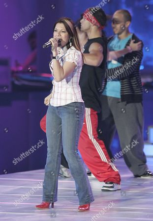 Diana Reyes Rehearses For the 2007 Billboard Latin Music Awards at the Bank United Center Coral Gables Florida 25 April 2007 the Latin Billboards Will Be Broadcast Live by Telemundo 26 April 2007 From Bank United Center in Coral Gables Florida