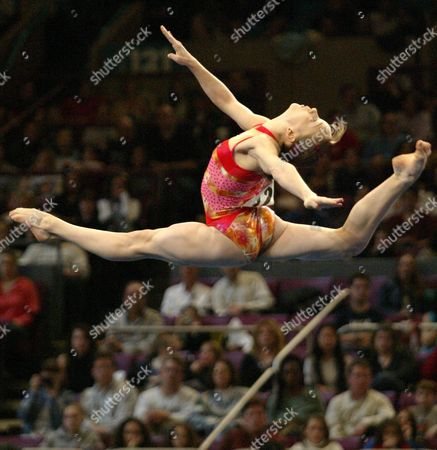 Elena Gomez of Spain Performs Her Floor Exercise During the Visa American Cup Saturday 28 February 2004 at Madison Square Garden in New York