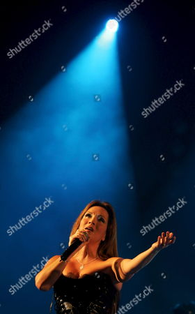 French Singer Helene Segara Performs During a Concert at 'La Coupole' Stadium On 19 June 2008 in Algiers Algeria the Concert Gathered Some 5 000 Algerians' Fans