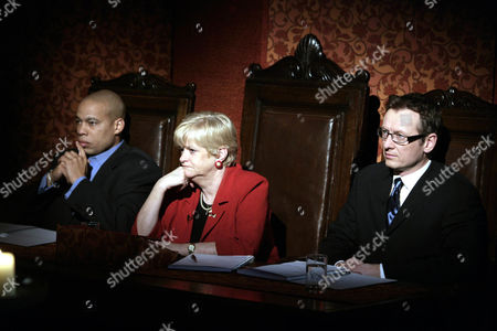 'Celebrity Fit Club' TV - 2005 -  L-R Harvey Walden, Ann Widdecombe and Dr Adam Carey.