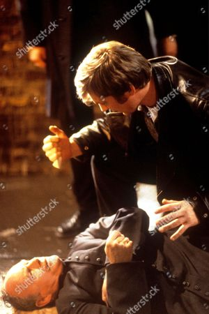 Agatha Christie 'The Pale Horse'  TV - 1997 - Colin Buchanan as Mark Easterbrook discovers the priest's body (Geoffrey Beevers as Father Gorman)