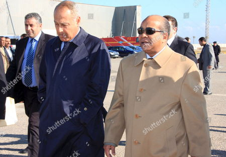 Libyan Foreign Minister Abdel Rahman Shalgham (r) Meets with Egyptian Foreign Minister Abul Gheit in Tripoli 23 Deecember 2008 Gheeit is in Libya On a Working Visit
