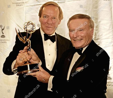 Herbert Kloiber (l) Managing Director of Tele-munchen Group Recieves the International Emmy Directorate Award From Herbert Granath at the Hilton Hotel in New York City Monday 22 November 2004