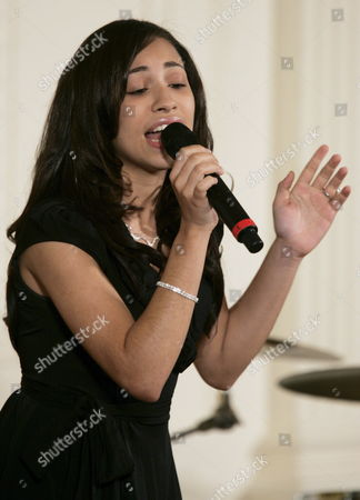 Karina Pasian Performs During the Black History Month Celebration Held in the East Room of the White House in Washington D C Usa 22 June 2007