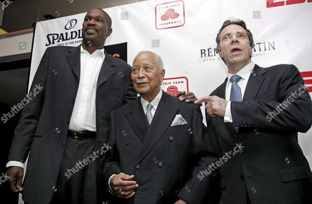 New York Knicks Basketball Assitant Coach Herb Williams (l) Former New York City Mayor David Dinkins (c) and New York State Attorney General Andrew Coumo Attend the World Premiere of 'Black Magic' at the Apollo Theater in New York Usa 25 February 2008 the Film Covers the Civil Rights Movement As Told Through the Lives of Basketball Players and Coaches Who Attended America's Black Colleges and Universities