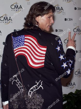 Billy Dean Sports a Jacket with an American Flag and the Destroyed World Trade Center On It As He Arrives at the Grand Ole Oprey House For the Country Music Awards Wednesday 05 November 2003 in Nashville Tennessee Epa/tannen Maury