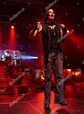 Austin Winkler Lead Singer of the Us Band Hinder Performs During the Jagermeister Music Tour in Indianapolis Indiana Usa 22 December 2008