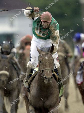 Afleet Alex with Jeremy Rose Smith Onboard Wins the 130th Running of the Preakness Stakes at Pimlico Race Course in Baltimore Maryland Saturday 21may 2005