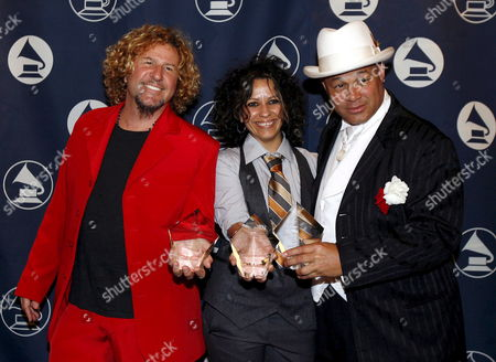 Us Musicians (l-r) Sammy Hagar and Linda Perry and Us Musician and Producer 'Narada' Michael Walden Hold Their Awards Which They Received During the San Francisco Chapter of the Recording Academy Honors in San Francisco Sunday 29 April 2007