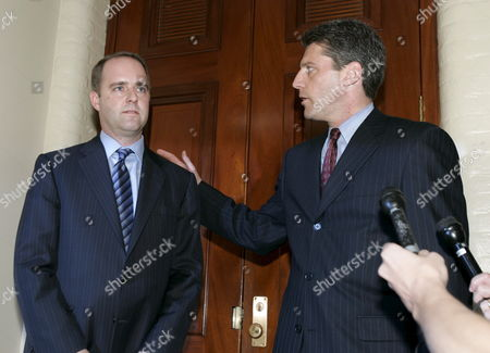 Mark Fordham (l) Former Chief of Staff For Us Representative Tom Reynolds (republican - New York) Leaves the Us Capitol with His Attorney After Giving Testimony to the House of Representatives Ethics Committee About His Role in the Mark Foley Scandal in Washington Dc Thursday 12 October 2006 Foley is a Former Republican Congressman From Florida Who is Accused of Sending Illicit Emails and Instant Messages to Congressional Pages Fordham Says He Warned the Speaker of the House's Office About Foley Years Ago