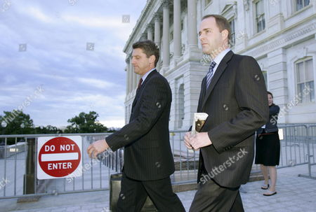 Mark Fordham (r) Former Chief of Staff For Us Representative Tom Reynolds (republican - New York) Leaves the Us Capitol with His Attorney After Giving Testimony to the House of Representatives Ethics Committee About His Role in the Mark Foley Scandal in Washington Dc Thursday 12 October 2006 Foley is a Former Republican Congressman From Florida Who is Accused of Sending Illicit Emails and Instant Messages to Congressional Pages Fordham Says He Warned the Speaker of the House's Office About Foley Years Ago