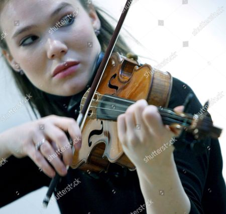Violinist Tamsin Waley-cohen Plays a Stradivari Violin Known As 'The Penny' at Christie's Auction House in London Britain 07 March 2008 Made in Cremona Italy by Antonio Stradivari Circa 1700 the Violin is Expected to Fetch in the Region of 800 000 - 1 2 Million Euros at Auction 04 April