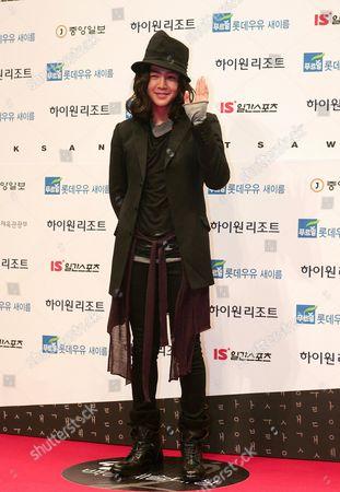 South Korean Actor Jang Keun-suk Arrives For the 45th Annual Baeksang Art Awards at Olympic Park Olympic Hall in Seoul South Korea 27 February 2009