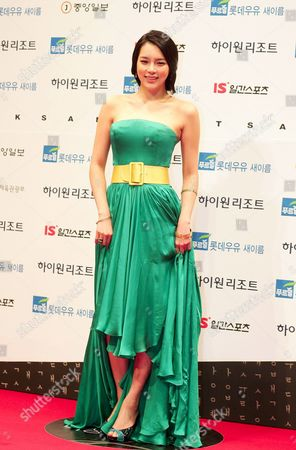 South Korean Actress Park Si-yeon Who Appeared in the Films 'Marine Boy' and 'Dachimawalee' Arrives For the 45th Annual Baeksang Art Awards at Olympic Park Olympic Hall in Seoul South Korea 27 February 2009