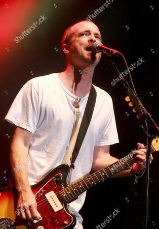 British Rock Group 'Travis' Singer and Guitarist Francis Healy Performs On Stage During the 2008 Incheon Pentaport Rock Festival in Incheon South Korea 26 July 2008