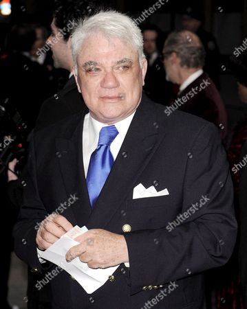 Stock Photo of Film Critic Rex Reed of the Us Arrives For the Opening Night Performance of Noel Coward?s 'Blithe Spirit' at the Schubert Theater in New York New York Usa On 15 March 2009 the Show Stars Rupert Everett Who is Making His Broadway Debut Alongside Angela Lansbury and Christine Ebersole