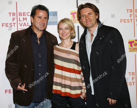 L-r Australian Actor Anthony Le Paglia Actress Naomi Watts and Actor Director and Founder of Tropfest John Polson Arrive to the Tropfest at Tribeca Short Film Competition Shown at the Tribeca Drive-in Premiere at the 2006 Tribeca Film Festival in New York Friday 28 April 2006