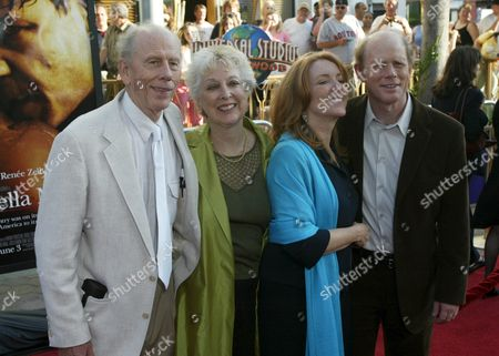 Ron Howard (r) Director of the New Film 'Cinderella Man ' Poses with His Wife Cheryl (2ndr) and His Parents Actor/director Rance Howard (l) and Actress Jean Speegle Howard (2ndl) at the Premiere of the Film in the Universal City Section of Los Angeles Monday 23 May 2005
