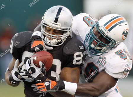 Editorial image of Usa Nfl Dolphins  -  Raiders - Nov 2005