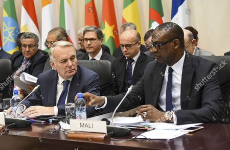 Jean Marc Ayrault and Abdoulaye Diop