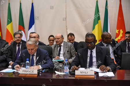 Stock Photo of Jean Marc Ayrault and Abdoulaye Diop