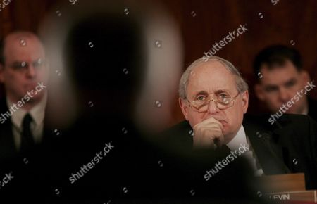 Sen Carl Levin (democrat- Michigan) Chairman of the Senate Armed Services Committee Listens to Testimony During a Hearing of the Committee On Capitol Hill in Washington Dc On Thursday 01 February 2007 the Committee Held a Confirmation For General George Casey Who is Nominated to Be the Next Army Chief of Staff Levin and Sen John Warner (republican- Virginia) Have Come Together On a Compromise Resolution Against the Proposed Troop Surge in Iraq Sen John Mccain (republican- Arizona) is Sponsoring a Competing Resolution Which Favors the Surge