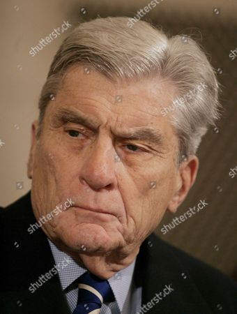 Sen John Warner (republican- Virginia) is Seen During a Hearing of the Senate Armed Services Committee On Capitol Hill in Washington Dc On Thursday 01 February 2007 the Committee Held a Confirmation For General George Casey Who is Nominated to Be the Next Army Chief of Staff Warner and Sen Carl Levin (democrat- Michigan) Have Come Together On a Compromise Resolution Against the Proposed Troop Surge in Iraq Sen John Mccain (republican- Arizona) is Sponsoring a Competing Resolution Which Favors the Surge